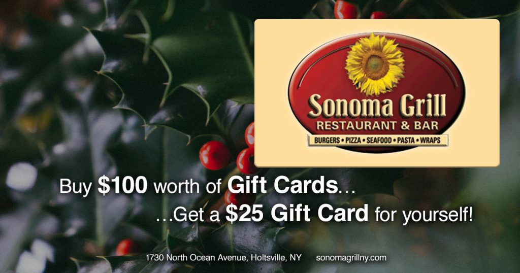 Buy $100 worth of gift cards, get a $25 gift card for yourself!